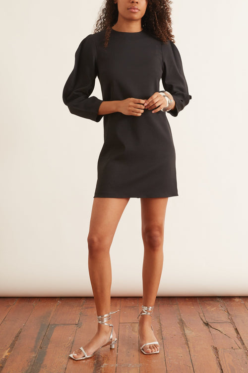 Chalky Drape Origami Shift Dress in Black