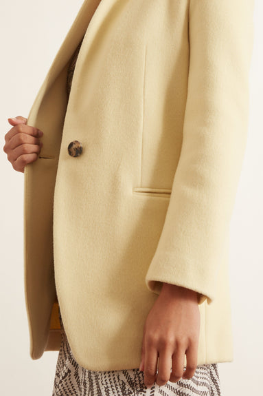Felicie Coat in Light Yellow