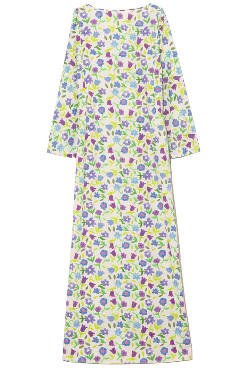 Katherine Cotton Poplin Dress in Jellypop Purple/Ivory