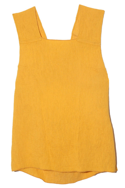 Apron Top in Golden Yellow