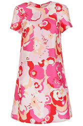 Mini Swing Dress in Peonia Rosa