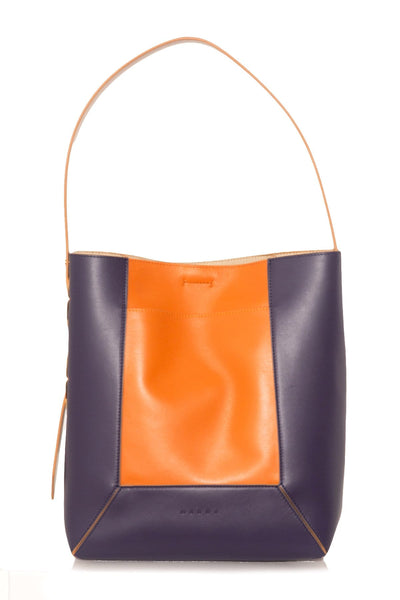 Contrast Bag in Orange/Purple
