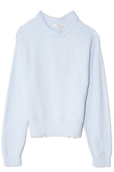 Fondue Crewneck Sweater in Sky Blue