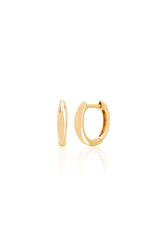 Gold Dome Mini Huggie in Yellow Gold
