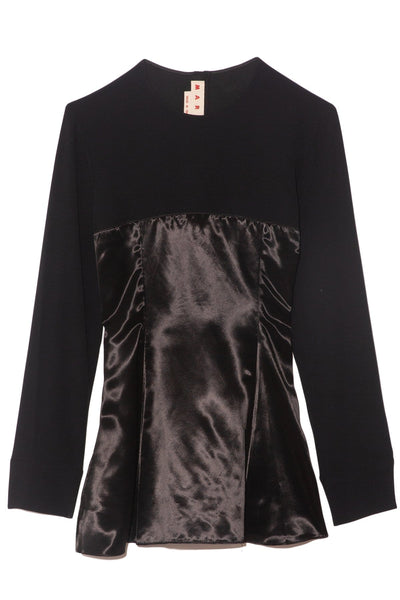 Long Sleeve Blouse in Black
