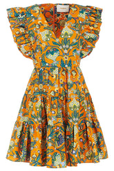 Honeybun Dress in Tree of Life Arancio