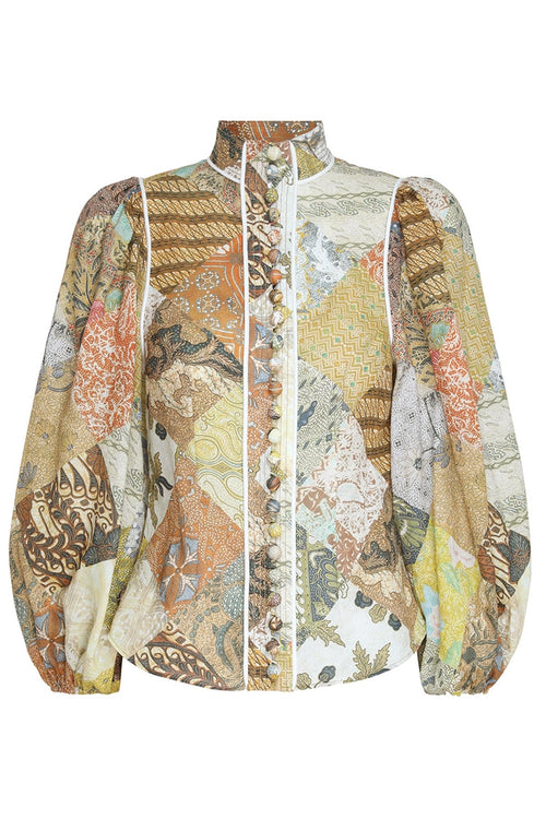 Brightside Piped Body Shirt in Batik Patch