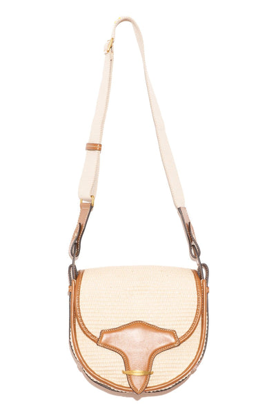 Botsy Saddle Bag in Natural/Cognac