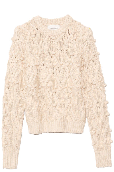 Anais Pullover in Off-White Melange