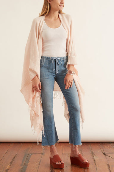 Tie Patch Weekender Ankle Fray Jean in Camp Expert
