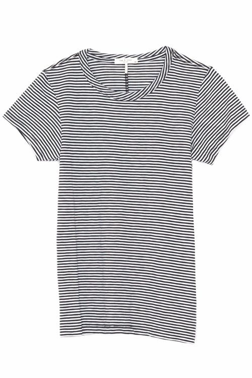 Striped Tee in Black/White