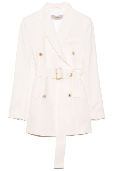 Clizia Blazer with Belt in Optic White