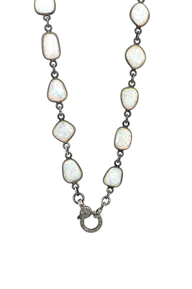 Opal Short Bezel Chain