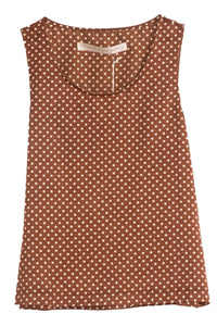 Everyday Tank in Brown Sand Polka Dot