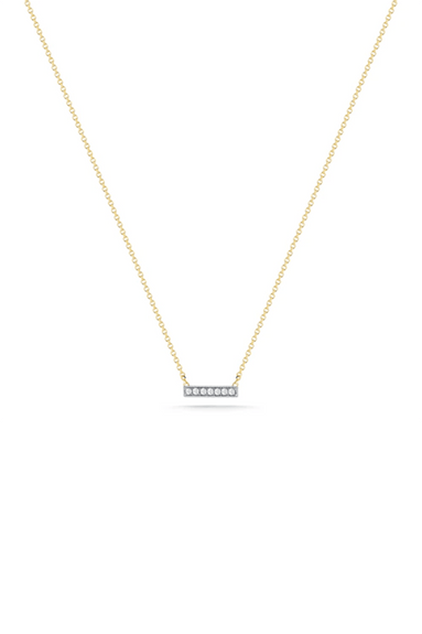 Sylvie Rose Bar Necklace in Yellow Gold