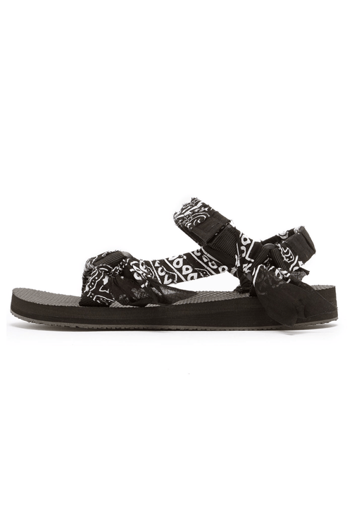 Trekky Bandana Sandal in Black