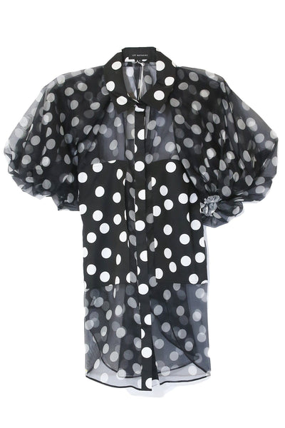 Cherry Spot Puff Sleeve Shirt in Spot