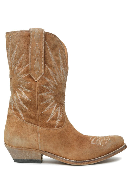 Wish Star Low Washed Boot in Wood Brown