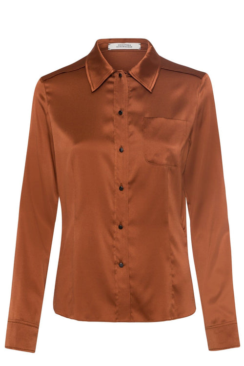 Shimmering Shine Blouse in Burnt Toffee