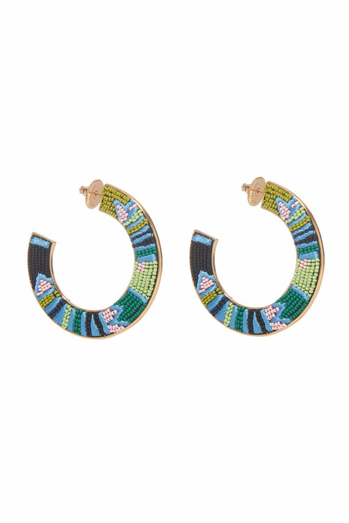 Aztec Fiona Hoop in Blue/Green
