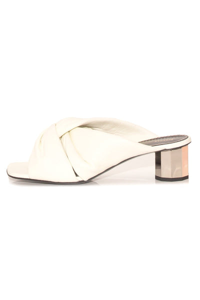 Pillar Sandal in Bone/Silver