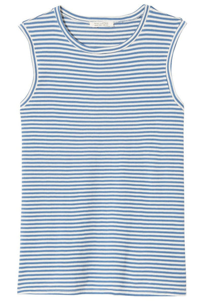 Muscle Tee in Sailor Blue/White Stripe