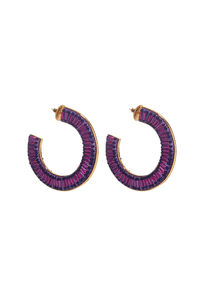 Mariana Hoops in Purple