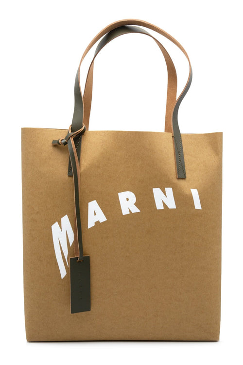 Marni Shopping Bag Tote in Cement