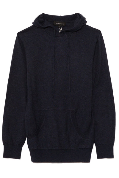Cotton Cashmere Hoodie in Navy