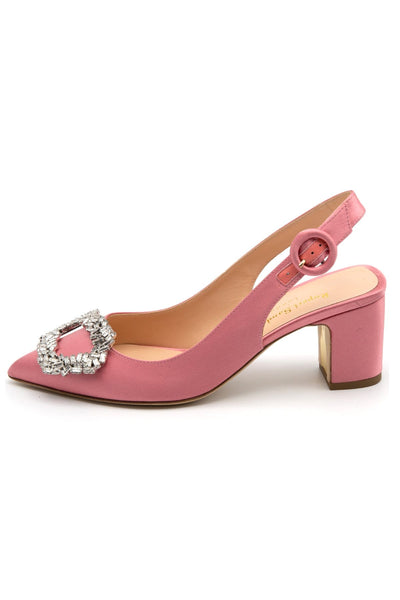 Marina Satin Pump in Sugardrop