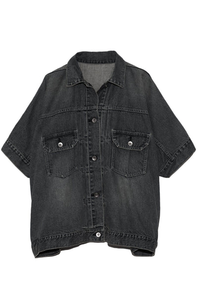 Denim Shirt in Black