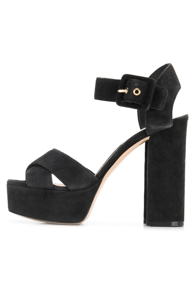 Elements Platform Sandal in Black