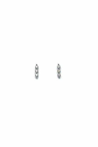 Pave Dot Bar Studs