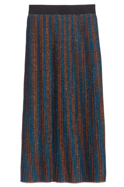 Amber Skirt in Stripe Tahitian Tide/Cinnamon