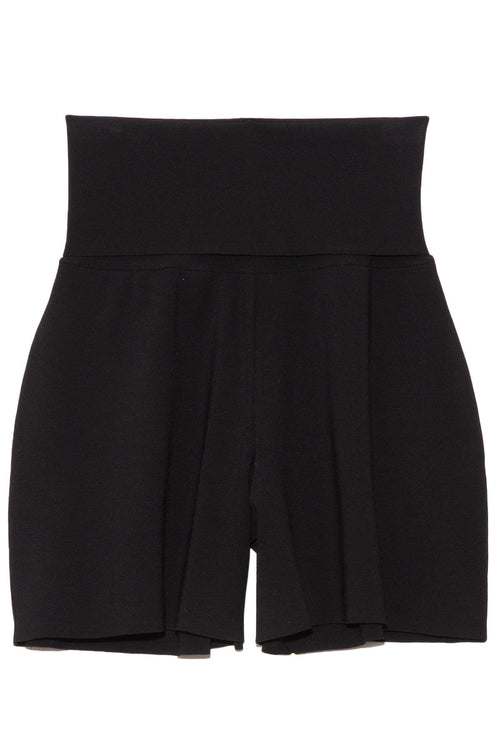 Compact Knit Shorts in Black