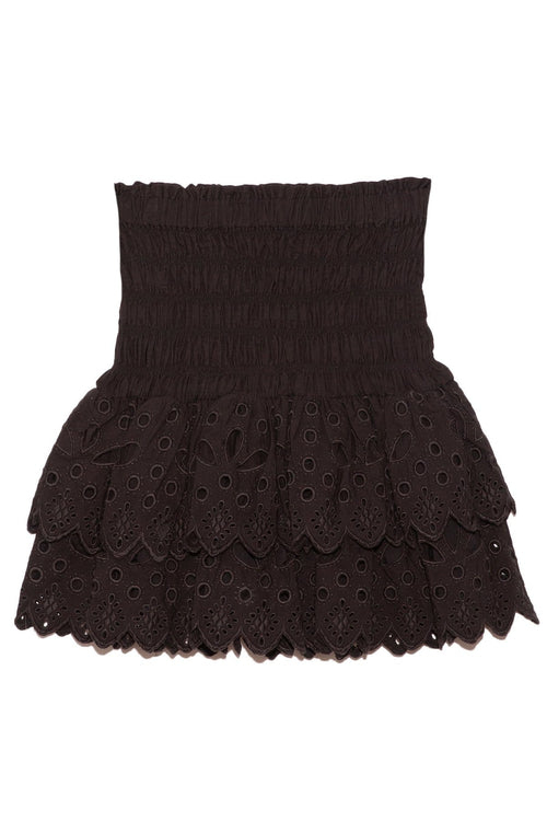 Hazel Eyelet Skirt in Black