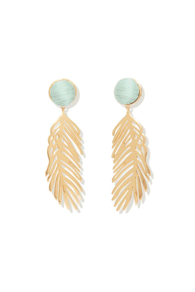 Cooper Palm Earring in Gold