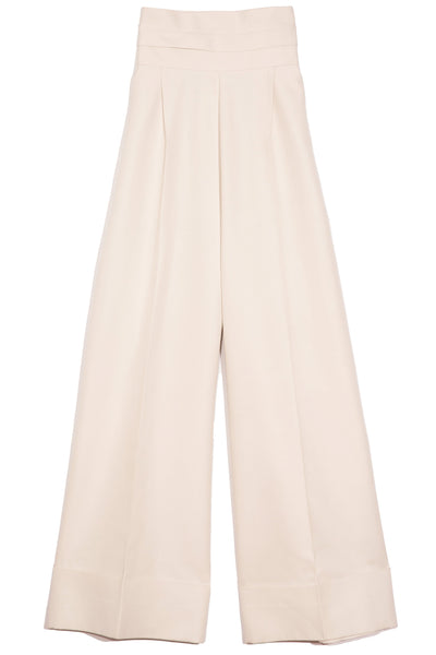 Wide Leg Pants in Stone