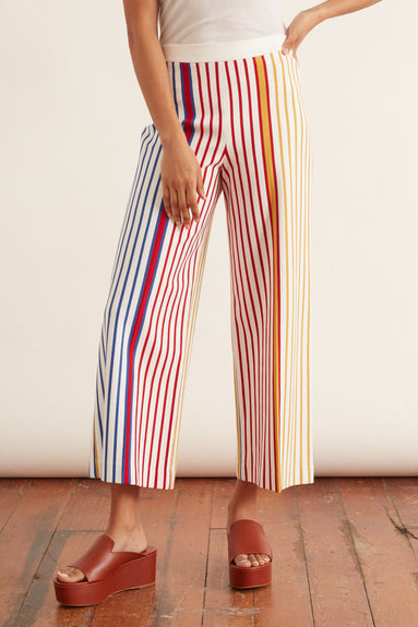 Pull On Straight Trouser in Multi