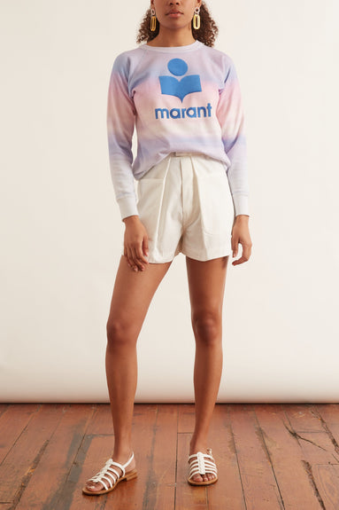 Milly Sweatshirt in Blue/Pink