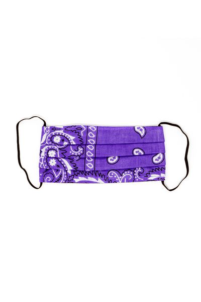 Bandana Mask in Purple