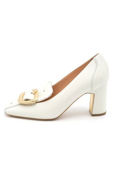 Marion Loafer Pump in White