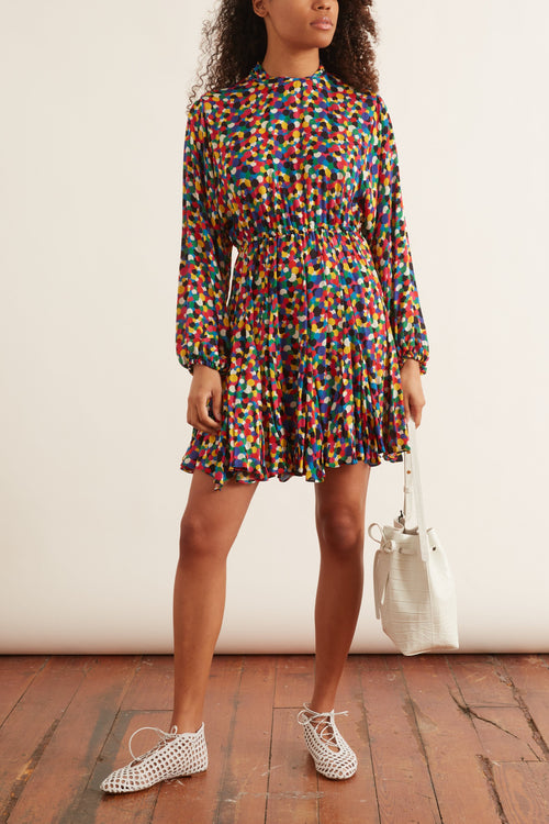 Caroline Dress in Micro Confetti
