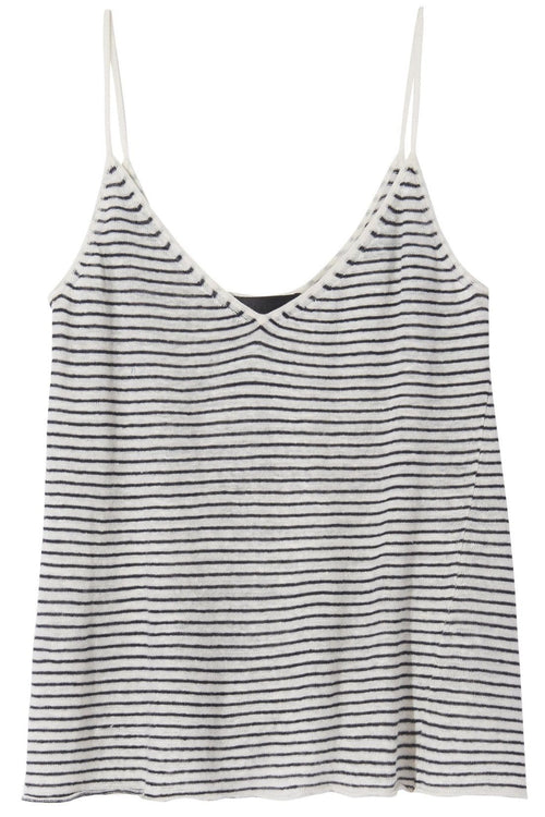 Hayley Sweater in Ivory/Black Stripe
