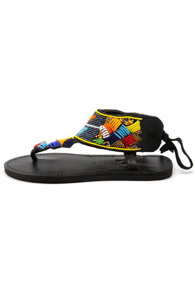 Massai Sandal in Mix Color Sequin