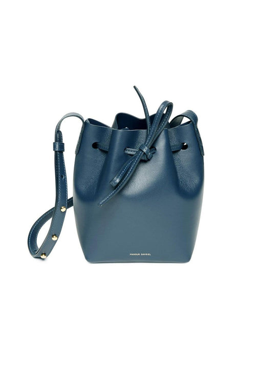 Mini Mini Bucket Bag in Blu