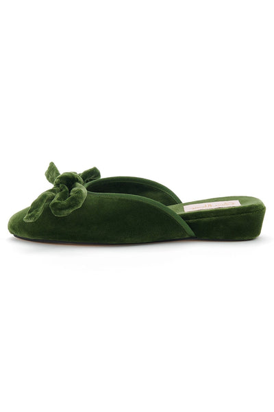 Daphne Bow Slipper in Lime Green