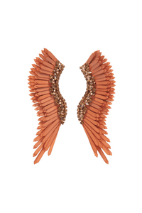 Madeline Earrings in Brown/Rose Gold