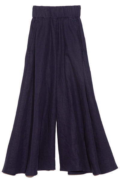 Linen Culotte in Navy
