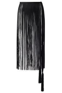 Fringe Belt in Black